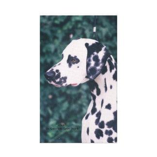 Dalmatian Headstudy -- Grunt Canvas Print