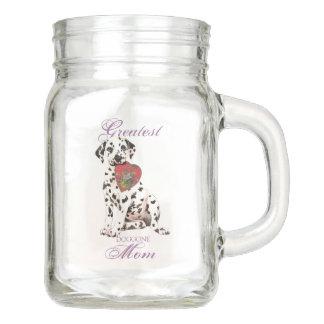 Dalmatian Heart Mom Mason Jar