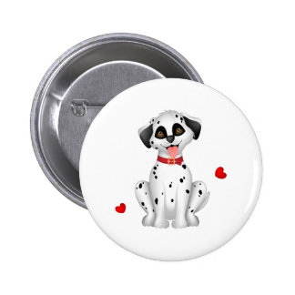 Dalmatian hearts 2 inch round button
