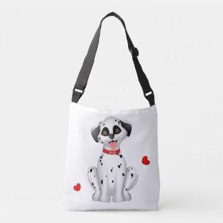 Dalmatian hearts crossbody bag