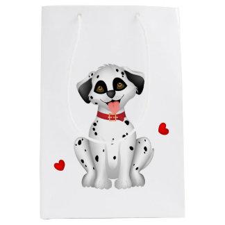 Dalmatian hearts medium gift bag