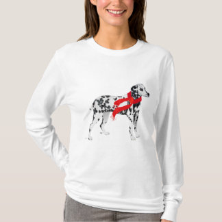Dalmatian in a Red Scarf T-Shirt
