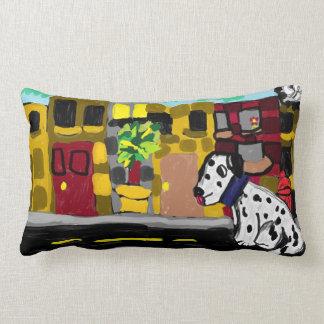 Dalmatian in town lumbar pillow