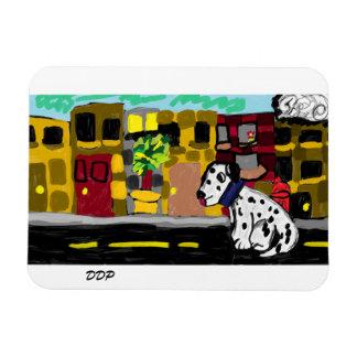 Dalmatian in town magnet
