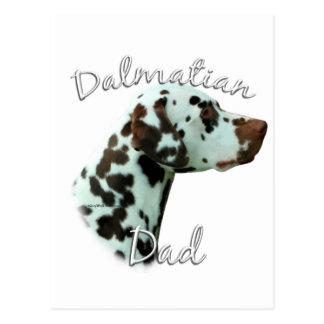 Dalmatian (liver) Dad 2 Postcard