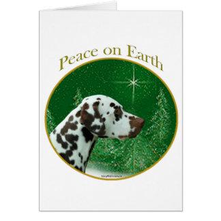 Dalmatian (liver) Peace Card