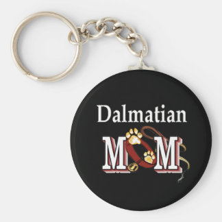 Dalmatian Mom Darks Basic Round Button Keychain