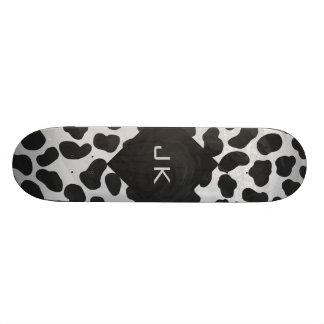 Dalmatian Monogrtam Black and White Prints Skate Board Decks