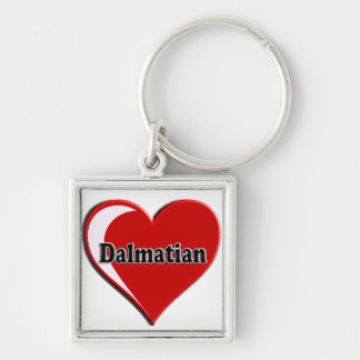 Dalmatian on Heart for dog lovers Keychain