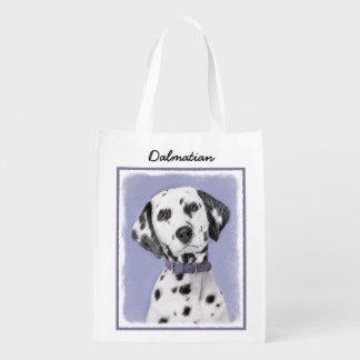 Dalmatian Painting - Cute Original Dog Art Reusable Grocery Bag