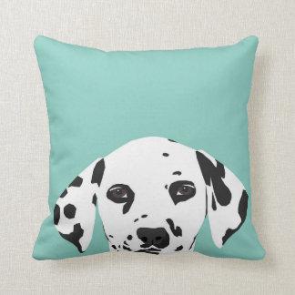Dalmatian Pillow - mint - cute dog pillow