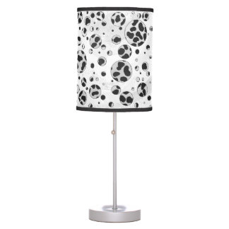 Dalmatian Polka Dot Black and White Table Lamp