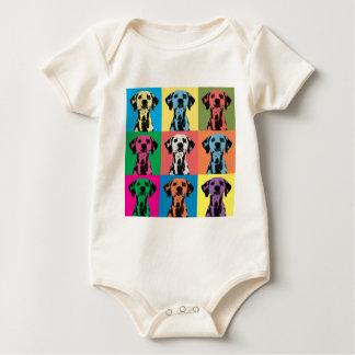 Dalmatian Pop-Art Baby Bodysuit