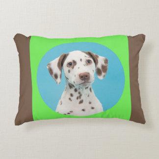 Dalmatian protrait decorative pillow