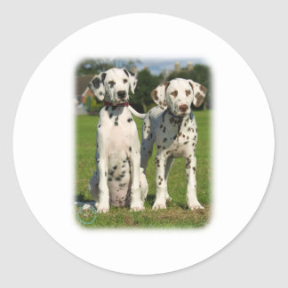 Dalmatian puppies 9A43D-10 Round Sticker