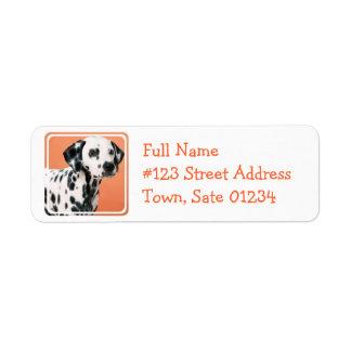 Dalmatian Puppies Mailing Label Return Address Label