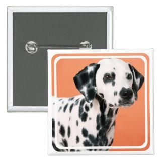 Dalmatian Puppies Square Pin