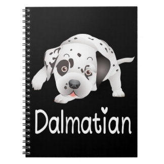 Dalmatian Puppy Dog Black Love Spotted Fire Dog Notebooks