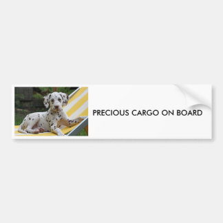 Dalmatian puppy dog car bumper sticker
