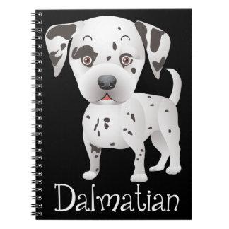 Dalmatian Puppy Dog Cartoon Black Spotted Fire Dog Spiral Notebook