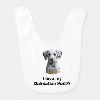 Dalmatian puppy dog photo baby bib