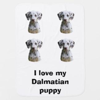Dalmatian puppy dog photo baby blankets