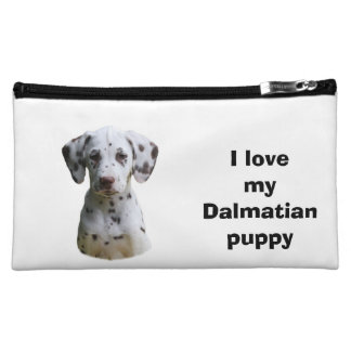 Dalmatian puppy dog photo cosmetic bags