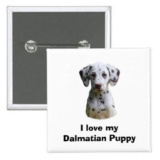 Dalmatian puppy dog photo buttons