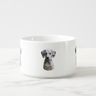 Dalmatian puppy dog photo chili bowl