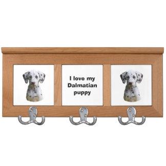 Dalmatian puppy dog photo coat racks