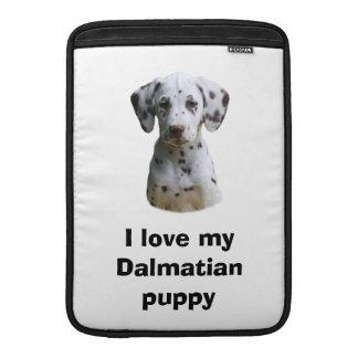 Dalmatian puppy dog photo MacBook air sleeves