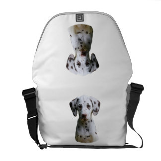 Dalmatian puppy dog photo messenger bags