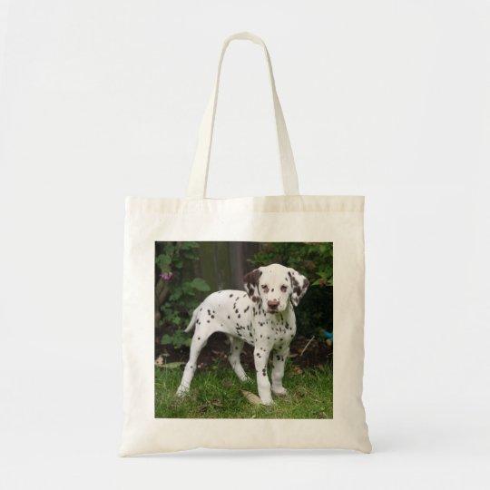Dalmatian puppy dog tote bag, present idea
