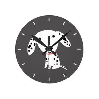 Dalmatian Puppy Round Clock