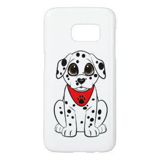 Dalmatian Puppy with the Heart-Shaped Nose Samsung Galaxy S7 Case