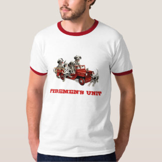 dalmatian-pups-fire-engine, FIREMEN'S UNIT T-Shirt