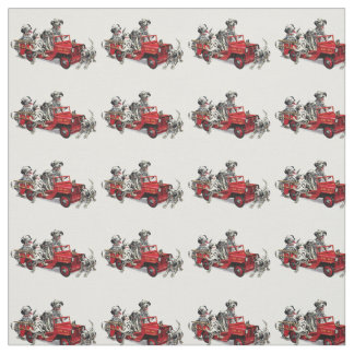Dalmatian Pups with Fire Truck Fabric