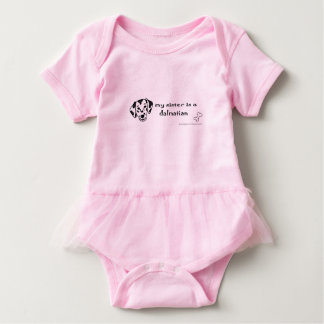 dalmatian sister baby bodysuit