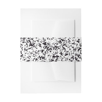 Dalmatian Spot Design Belly Band Invitation Belly Band