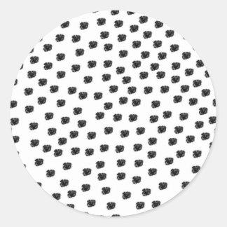 Dalmatian Spots Classic Round Sticker