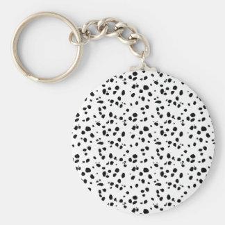 Dalmatian Spots, Dalmatian Print, Dalmatian Fur Basic Round Button Keychain