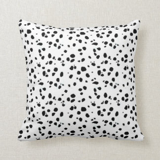 Dalmatian Spots, Dalmatian Print, Dalmatian Fur Throw Pillow