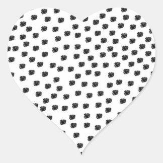 Dalmatian Spots Heart Sticker