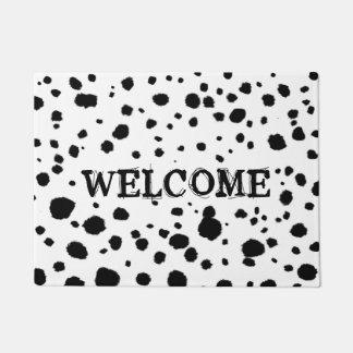 Dalmatian Spots Welcome Mat - Custom Text