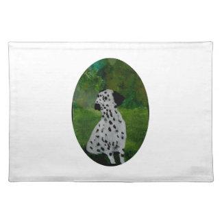 Dalmatian Spotty Dog Art Place Mats