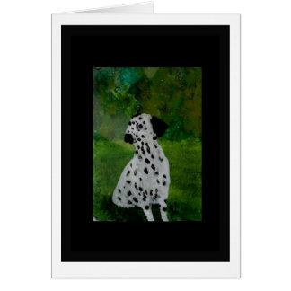Dalmatian Spotty Dog Artwork Greeting Card