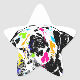 dalmatian star sticker
