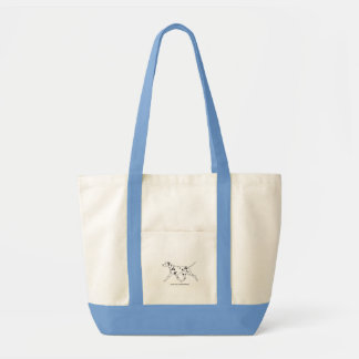 Dalmatian Trotting Tote Bag