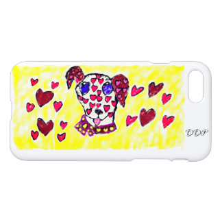Dalmatian valentine 2 iPhone 8/7 case