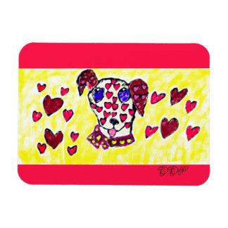 Dalmatian valentine 2 magnet